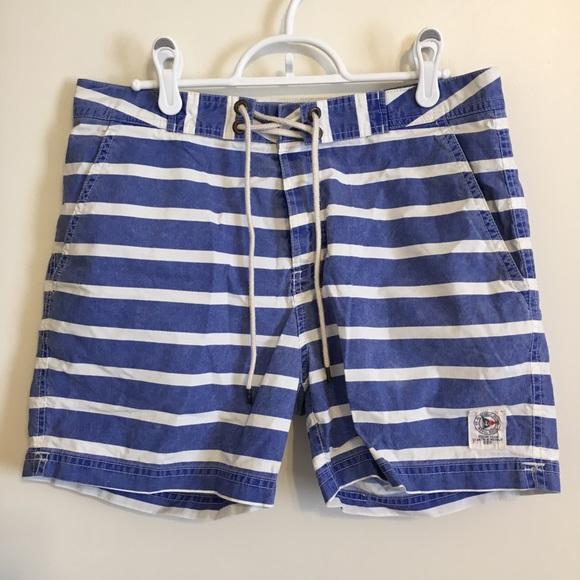 2b052f5d6a151 Polo Ralph Lauren Blue & White Striped Swim Shorts.  M_5b7b3db342aa765740d8fa0b